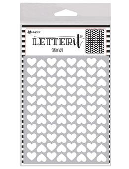 Letter It™ Background Stencil Treading Hearts Stencil Letter It