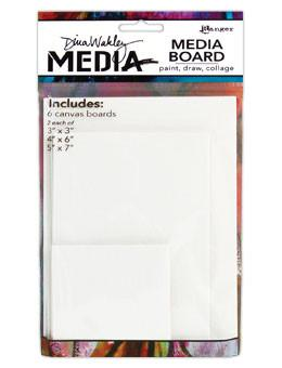Dina Wakley Media Board Multipack 6pk Surfaces Dina Wakley Media