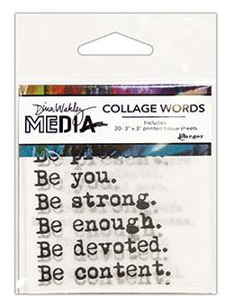 Dina Wakley Media Collage Words Surfaces Dina Wakley Media