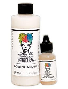 Dina Wakley Media Pouring Medium & Cell Creator Set