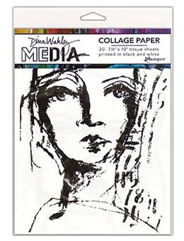 NEW! Dina Wakley Media Collage Paper Faces