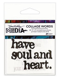 Dina Wakley Media Collage Words Pack #2