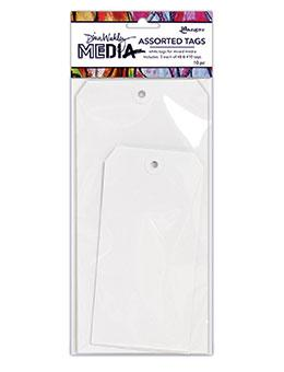 Dina Wakley Media White Tag Assortment #8 & #10 Surfaces Dina Wakley Media