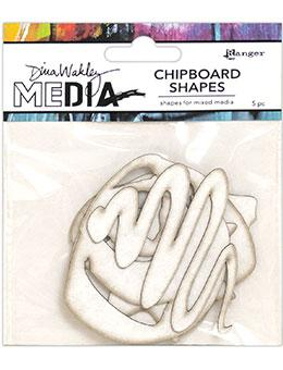 NEW! Dina Wakley Media Chipboard Shapes Basics