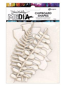 NEW! Dina Wakley Media Chipboard Shapes Botanicals