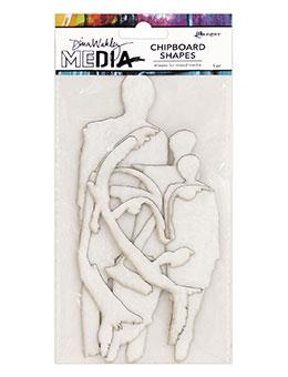 Dina Wakley Media Chipboard Shapes Persona Tools & Accessories Dina Wakley Media