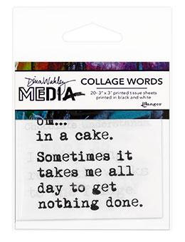 Dina Wakley Media Collage Word 3pk Surfaces Dina Wakley Media