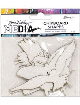 Dina Wakley Media Chipboard Shapes Flying Surfaces Dina Wakley Media