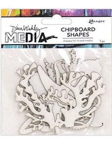 Dina Wakley MEdia Chipboard Shapes Ocean Surfaces Dina Wakley Media