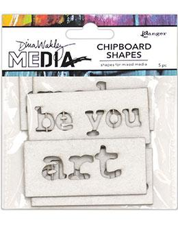 Dina Wakley Media Chipboard Shapes Words Surfaces Dina Wakley Media