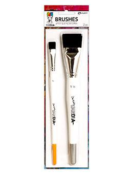 Dina Wakley MEdia Brush Set 2pk Tools & Accessories Dina Wakley Media