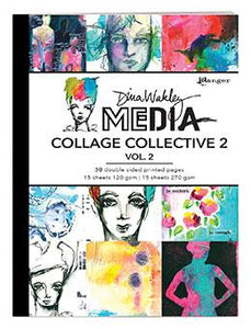 Dina Wakley MEdia Collage Collective 2 Vol. 2 Surfaces Dina Wakley Media