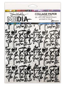 Dina Wakley Media Collage Paper Just Words Surfaces Dina Wakley Media
