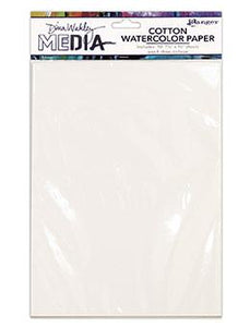 Dina Wakley Media Cotton Watercolor Paper Pack Surfaces Dina Wakley Media