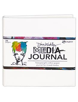 Dina Wakley Media White Journal 6 x 6 Journal Dina Wakley Media