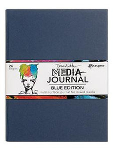 Dina Wakley MEdia Journal Blue Edition Journal Dina Wakley Media