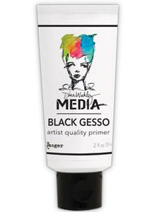 Dina Wakley Media Gesso Black, 2oz Gesso Dina Wakley Media