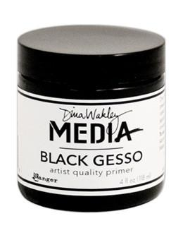 Dina Wakley Media Gesso Black, 4oz Gesso Dina Wakley Media