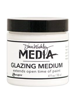 Dina Wakley Media Glazing Medium, 4oz Adhesives & Mediums Dina Wakley Media