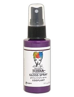 Dina Wakley MEdia Gloss Spray Eggplant, 2oz Sprays Dina Wakley Media