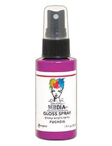 Dina Wakley MEdia Gloss Spray Fuchsia , 2oz Sprays Dina Wakley Media