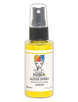 Dina Wakley MEdia Gloss Spray Lemon, 2oz Sprays Ranger Ink