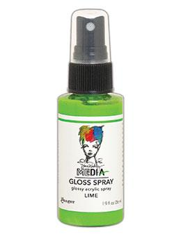 Dina Wakley MEdia Gloss Spray Lime, 2oz Sprays Dina Wakley Media