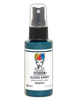 Dina Wakley MEdia Gloss Spray Marine, 2oz Sprays Dina Wakley Media