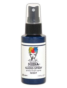 Dina Wakley MEdia Gloss Spray Night, 2oz Sprays Dina Wakley Media