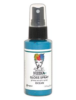 Dina Wakley MEdia Gloss Spray Ocean, 2oz Sprays Dina Wakley Media