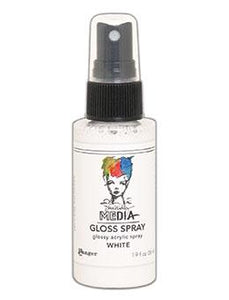 Dina Wakley MEdia Gloss Spray White, 2oz Sprays Dina Wakley Media