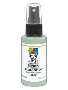 Dina Wakley Media Gloss Spray Aloe, 2oz Sprays Dina Wakley Media