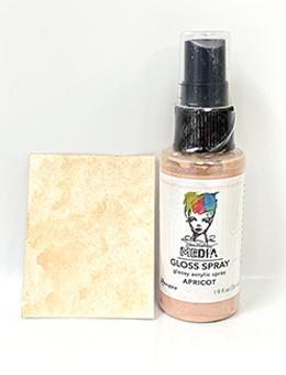 Dina Wakley Media Gloss Spray Apricot, 2oz Sprays Dina Wakley Media