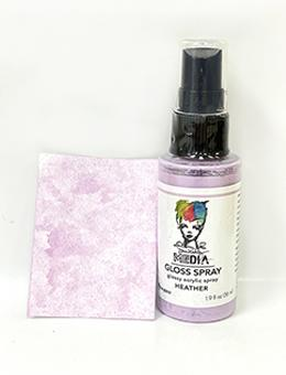 Dina Wakley Media Gloss Spray Heather, 2oz Sprays Dina Wakley Media