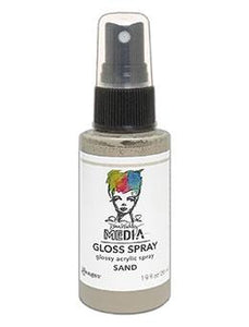 Dina Wakley Media Gloss Spray Sand, 2oz Sprays Dina Wakley Media