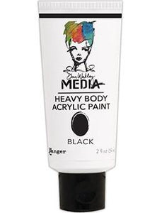 Dina Wakley Media Acrylic Paint Black, 2oz