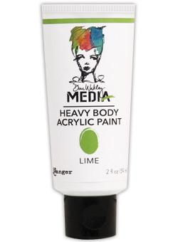 Dina Wakley Media Acrylic Paint Lime, 2oz Paint Dina Wakley Media