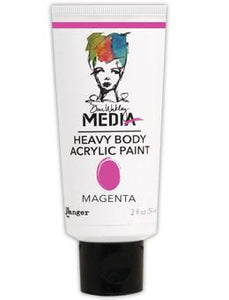 Dina Wakley Media Acrylic Paint Magenta, 2oz