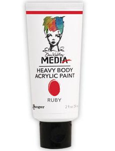 Dina Wakley Media Acrylic Paint Ruby, 2oz Paint Dina Wakley Media