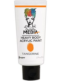 Dina Wakley Media Acrylic Paint Tangerine, 2oz Paint Dina Wakley Media