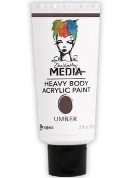 Dina Wakley Media Acrylic Paint Umber, 2oz
