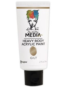 Dina Wakley Media Acrylic Paint Gilt, 2oz Paint Dina Wakley Media