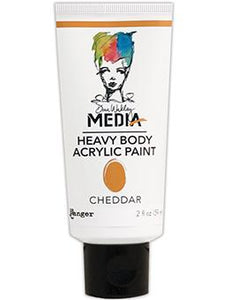 Dina Wakley Media Acrylic Paint Cheddar, 2oz Paint Dina Wakley Media
