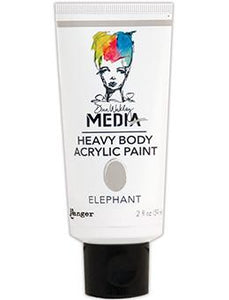 Dina Wakley Media Acrylic Paint Elephant, 2oz Paint Dina Wakley Media