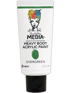 Dina Wakley Media Acrylic Paint Evergreen, 2oz Paint Dina Wakley Media