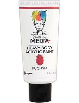 Dina Wakley Media Acrylic Paint Fuchsia, 2oz Paint Dina Wakley Media