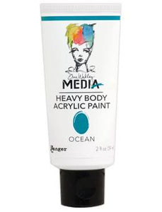 Dina Wakley Media Acrylic Paint Ocean, 2oz Paint Dina Wakley Media
