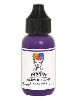 Dina Wakley Media Acrylic Paint Blackberry, 1oz Paint Dina Wakley Media
