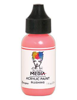 Dina Wakley Media Acrylic Paint Blushing, 1oz Paint Dina Wakley Media