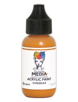 Dina Wakley Media Acrylic Paint Cheddar, 1oz Paint Dina Wakley Media